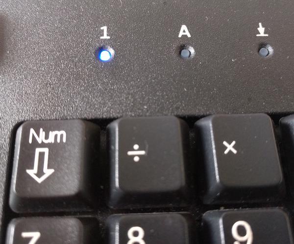 Die NUM-Taste - oft ein Hindernis beim morgendlichen Eintippen von Zahlen im Passwort